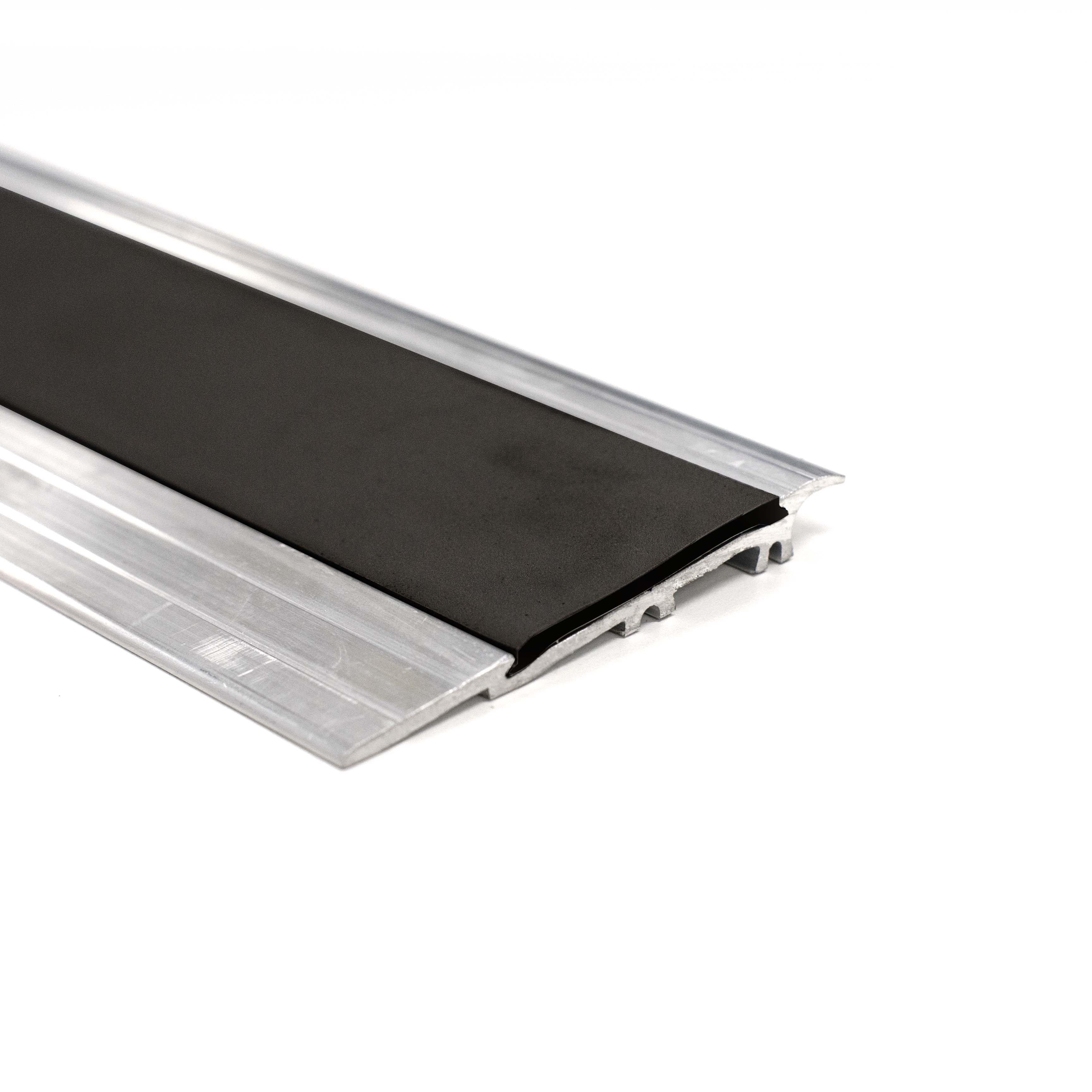 Alumunium Transition Strip For TekTile System with Black Insert - 2.5m