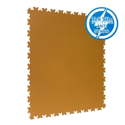 TekTile Antistatic Flooring, Beige Finish with Dovetail Interlock - 5mm