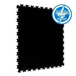 TekTile Antistatic Flooring, Black Finish with Dovetail Interlock - 7mm