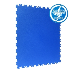 TekTile Antistatic Flooring, Blue Finish with Dovetail Interlock - 5mm