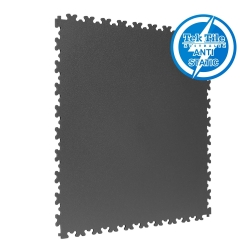 TekTile Antistatic Flooring, Dark Grey Finish with Dovetail Interlock - 7mm