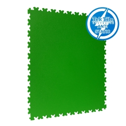 TekTile Antistatic Flooring, Green Finish with Dovetail Interlock - 5mm