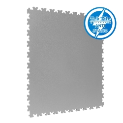 TekTile Antistatic Flooring, Light Grey Finish with Dovetail Interlock - 5mm