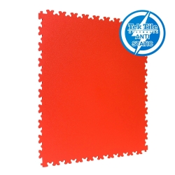 TekTile Antistatic Flooring, Red Finish with Dovetail Interlock - 5mm