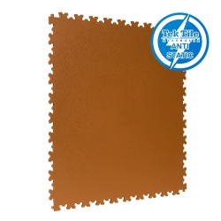 TekTile Antistatic Flooring, Tan Finish with Dovetail Interlock - 5mm