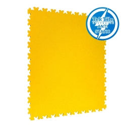 TekTile Antistatic Flooring, Yellow Finish with Dovetail Interlock - 7mm