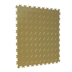 TekTile Chequer Plate Beige Finish with Dovetail Interlock - 4mm