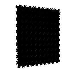 TekTile Chequer Plate Black Finish with Dovetail Interlock - 4mm
