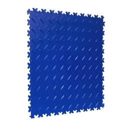 TekTile Chequer Plate Blue Finish with Dovetail Interlock - 4mm