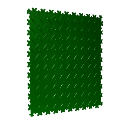 TekTile Chequer Plate Green Finish with Dovetail Interlock - 4mm