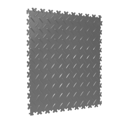 TekTile Chequer Plate Light Grey Finish with Dovetail Interlock - 4mm