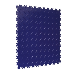 TekTile Chequer Plate Navy Blue Finish with Dovetail Interlock - 4mm
