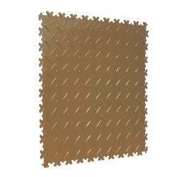 TekTile Chequer Plate Tan Finish with Dovetail Interlock - 4mm