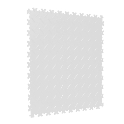 TekTile Chequer Plate White Finish with Dovetail Interlock - 4mm