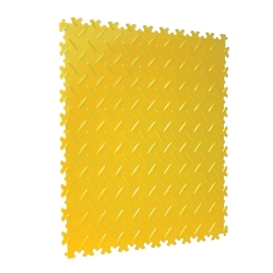TekTile Chequer Plate Yellow Finish with Dovetail Interlock - 4mm