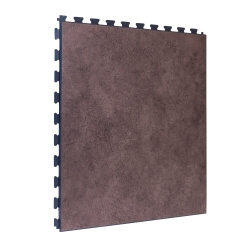Luxury Vinyl Tile in Premium Clay Finish with Dark Grey Grout
