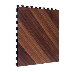 SAMPLE Luxury Vinyl Tile in Parqueted Dark Oak with Black Grout