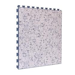 SAMPLE Luxury Vinyl Tile in Grey Terrazo Finish with Dark Grey Grout
