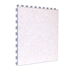 SAMPLE Luxury Vinyl Tile in Premium Limestone Finish with White Grout