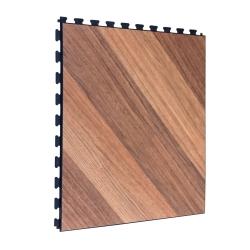 SAMPLE Luxury Vinyl Tile in Light Oak Finish with Black Grout