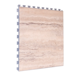 SAMPLE Luxury Vinyl Tile in Premium Light Marble Finish with Grey Grout