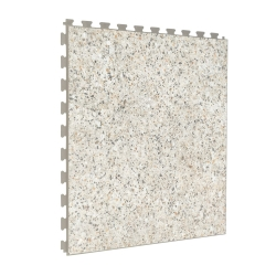 SAMPLE Luxury Vinyl Tile in Polished Concrete with Custom Grout