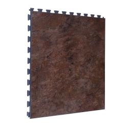 SAMPLE Luxury Vinyl Tile in Rustic Dark Grey Finish with Grey Grout