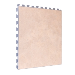 SAMPLE Luxury Vinyl Tile in Premium Light Sandstone with Grey Grout
