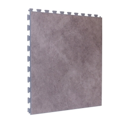 Luxury Vinyl Tile in Premium Light Shalestone with Light Grey Grout