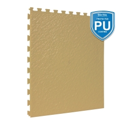 TekTile Textured Beige with Excel Hidden Interlock - PU Coated - 5mm