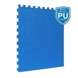 TekTile Textured Blue with Excel Hidden Interlock - PU Coated - 5mm
