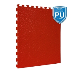 TekTile Textured Red with Excel Hidden Interlock - PU Coated - 5mm
