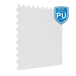 TekTile Textured White with Excel Hidden Interlock - PU Coated - 5mm