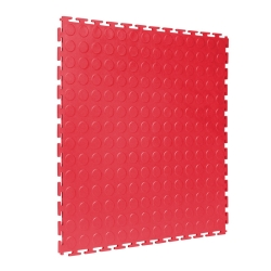 TekTile Studded Red Finish with T-Join Interlock - 5mm