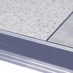 Alumunium Transition Strip For TekTile System with Dark Grey Inserts - 2.5m