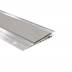 Alumunium Transition Strip For TekTile System with Light Grey Insert - 2.5m
