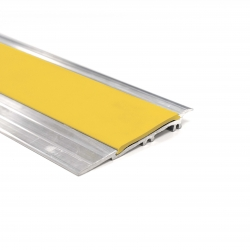 Alumunium Transition Strip For TekTile System with Yellow Insert - 2.5m