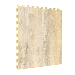 SAMPLE Luxury Vinyl Tile in Premium Vintage Ash Finish with Custom Grout